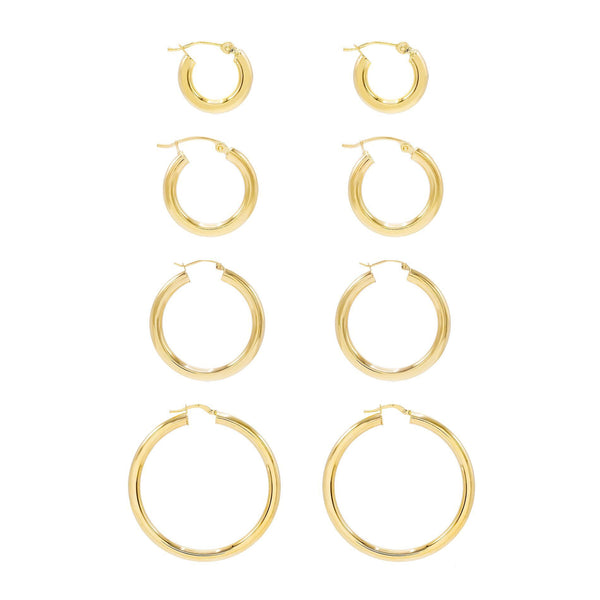 Hollow Hoop Earring 14K - Adina's Jewels