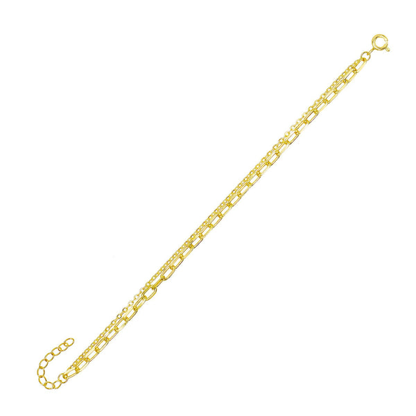Oval Link X Chain Anklet - Adina's Jewels