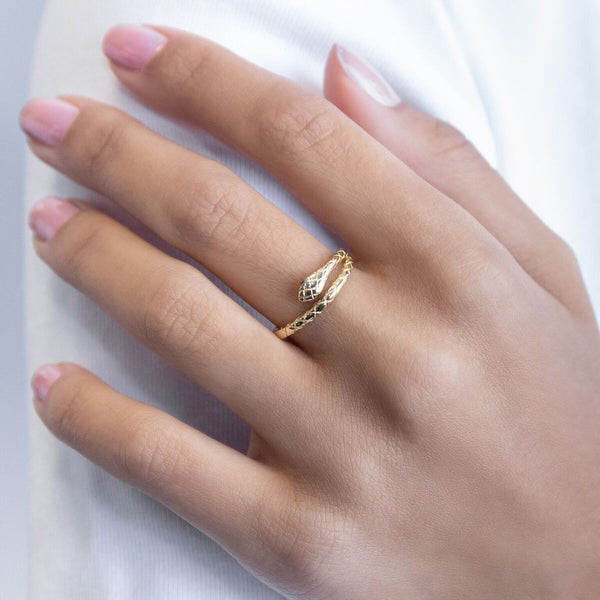 Gold Snake Ring - Adina's Jewels