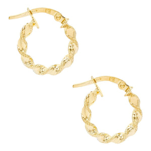 Twisted Mini Hoop Earring 14K - Adina's Jewels