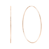 14K Rose Gold / 50 MM Endless Hoop Earring 14K - Adina's Jewels