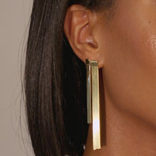 Herringbone Drop Stud Earring