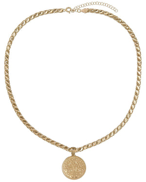 Gold / Thick Chain Vintage Coin Necklace - Adina's Jewels