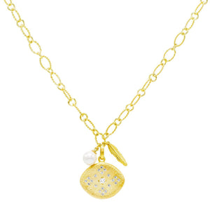 Mixed Charm Necklace Gold - Adina's Jewels