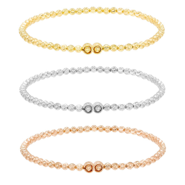 Combo Diamond-Cut Beaded Bracelet Combo Set - Adina's Jewels