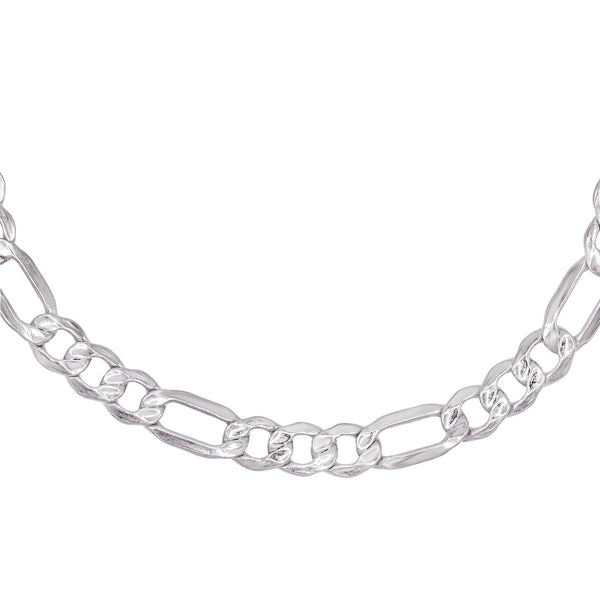 Silver 'XL' Hollow Figaro Choker - Adina's Jewels