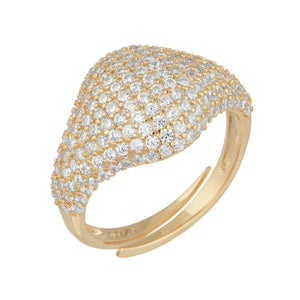 Pavé Pinky Ring Gold - Adina's Jewels