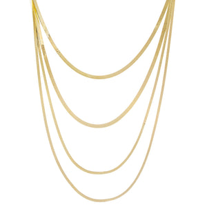 Four In One Snake Chain Necklace Gold - Adina's Jewels