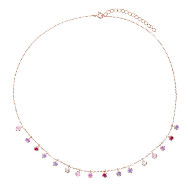 Pastel Bezel Necklace - Adina's Jewels