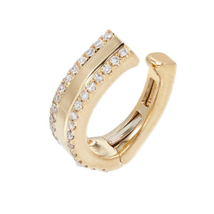 Diamond Double Row Ear Cuff 14K 14K Gold - Adina's Jewels