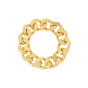 Chunky Cuban Chain Ring Gold / 8-9 - Adina's Jewels