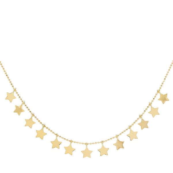 14K Gold Star Chain Necklace 14K - Adina's Jewels