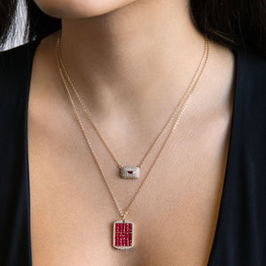 Rectangle Stone Necklace - Adina's Jewels
