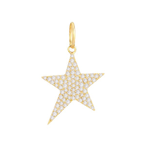 Diamond Star Charm 14K 14K Gold - Adina's Jewels