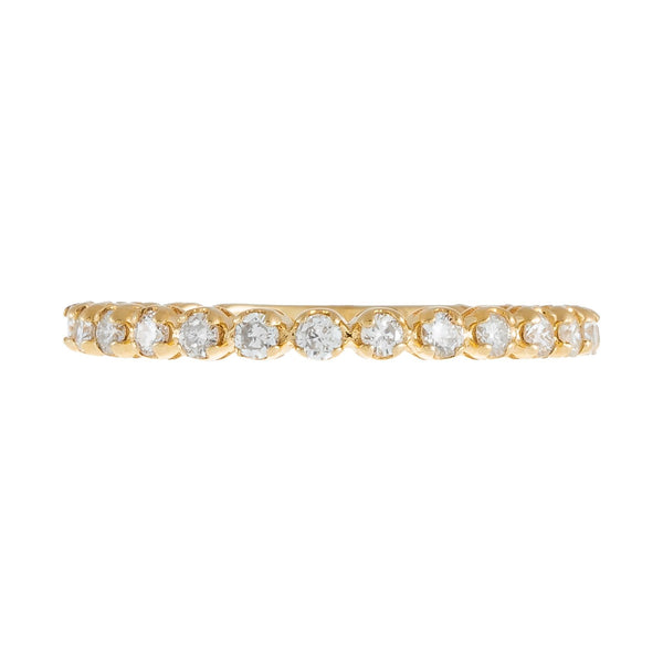 Diamond Thin Eternity Band 14K - Adina's Jewels