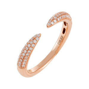 Diamond Claw Ring 18K 18K Rose Gold / 6 - Adina's Jewels