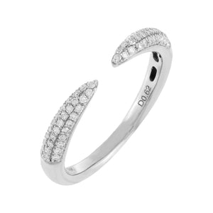 Diamond Claw Ring 18K 18K White Gold / 6 - Adina's Jewels