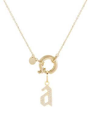 Diamond Charm Toggle Necklace 14K 14K Gold - Adina's Jewels