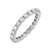 14K White Gold / 7 Diamond Round Eternity Band 14K - Adina's Jewels