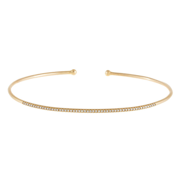 Diamond Thin Bangle 14K
