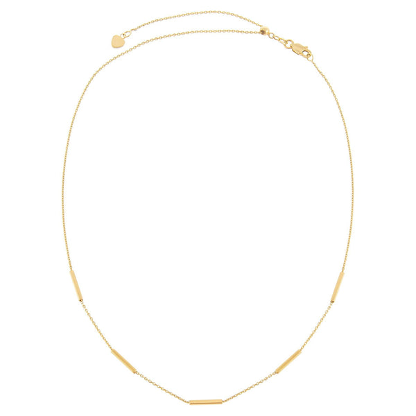 Thin Bars Necklace 14K