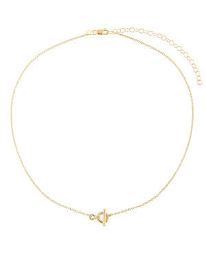 Dainty Toggle Anklet 14K 14K Gold - Adina's Jewels