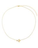 14K Gold Dainty Toggle Anklet 14K - Adina's Jewels