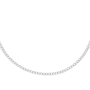 Cuban Choker 14K 14K White Gold - Adina's Jewels