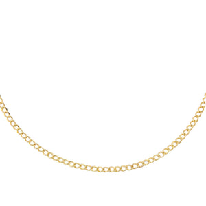 "14K Gold / 16"" Cuban Chain Necklace 14K - Adina's Jewels"