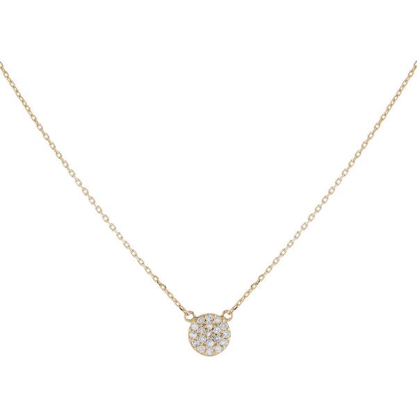 Diamond Circle Necklace 14K