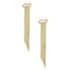 14K Gold Herringbone Chandelier Earring 14K - Adina's Jewels