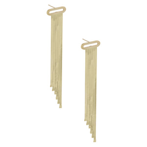 Herringbone Chandelier Earring 14K 14K Gold - Adina's Jewels