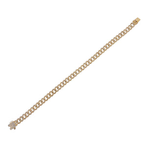 Diamond Cuban Chain Bracelet 14K 14K Gold - Adina's Jewels