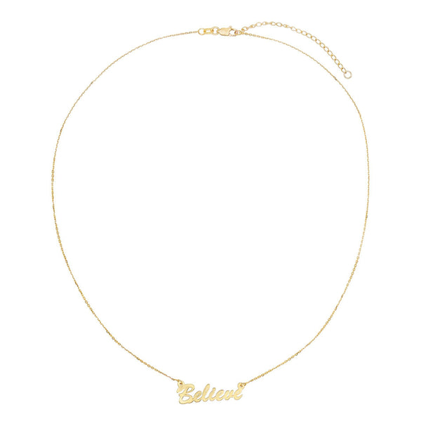 Assorted Phrase Necklace 14K - Adina's Jewels