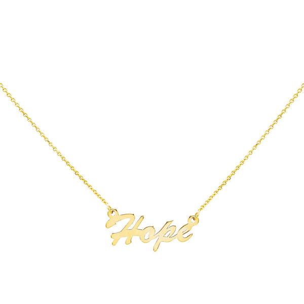 14K Gold / HOPE Assorted Phrase Necklace 14K - Adina's Jewels