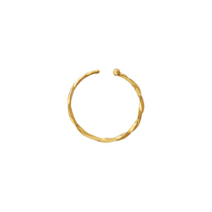 Twisted Cartilage Threader Hoop 14K 14K Gold / Single - Adina's Jewels