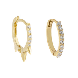 14K Gold CZ Cartilage Earring Combo Set 14K - Adina's Jewels