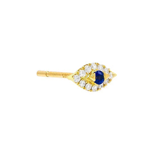 Diamond Evil Eye Stud Earring 14K 14K Gold - Adina's Jewels