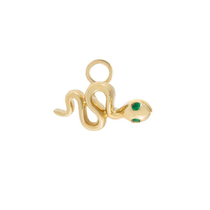 14K Gold Diamond Snake Charm 14K - Adina's Jewels