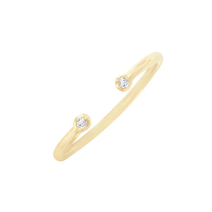 Diamond Adjustable Ring 14K 14K Gold - Adina's Jewels