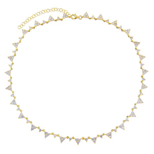 CZ Cluster Necklace  - Adina's Jewels