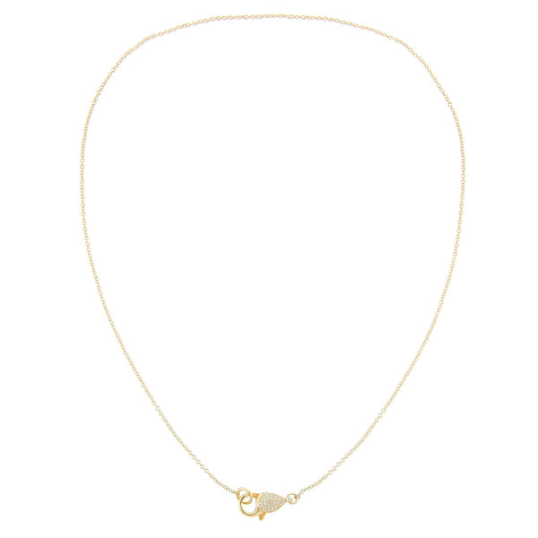 Diamond Clasp Necklace 14K
