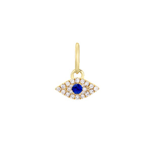 14K Gold Diamond Evil Eye Charm 14K - Adina's Jewels
