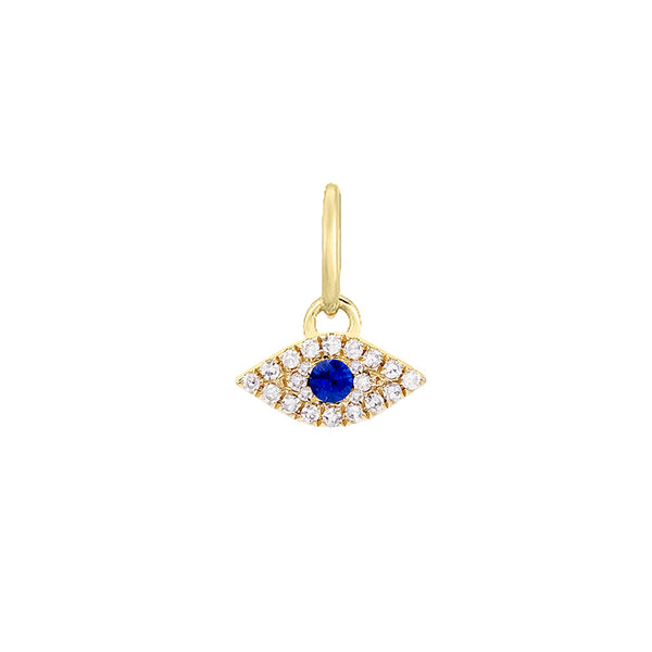 Diamond Evil Eye Charm 14K 14K Gold - Adina's Jewels