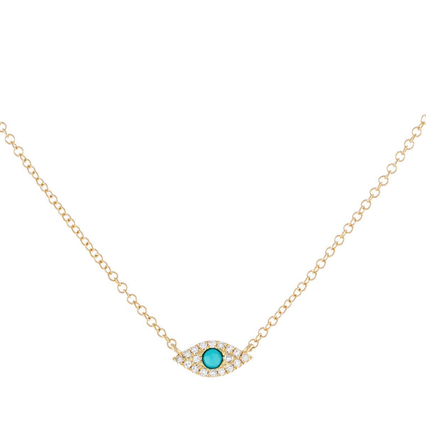 Turquoise Diamond Evil Eye Choker 14K - Adina's Jewels