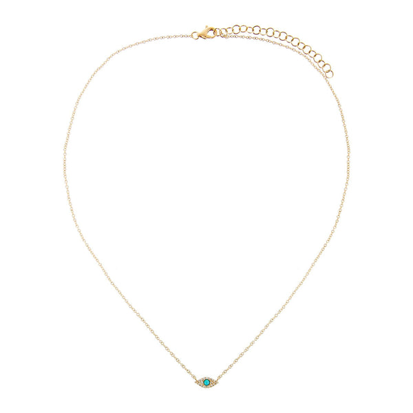 Diamond Evil Eye Choker 14K - Adina's Jewels