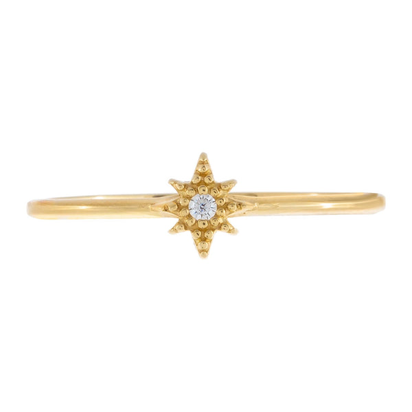 CZ Starburst Ring 14K - Adina's Jewels