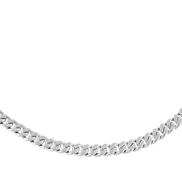 "14K White Gold / 16"" Miami Cuban Link Necklace 14K - Adina's Jewels"