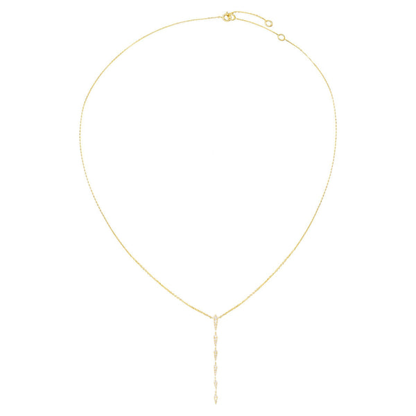 Diamond Multi Bar Lariat 14K - Adina's Jewels