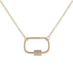 Diamond Dainty Toggle Necklace 14K 14K Gold - Adina's Jewels